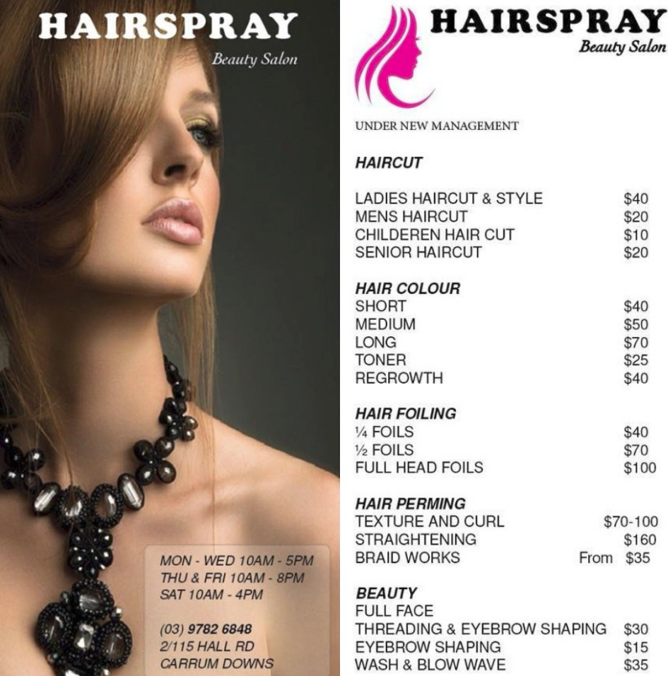 Photo Gallery - Hairspray Beauty Salon