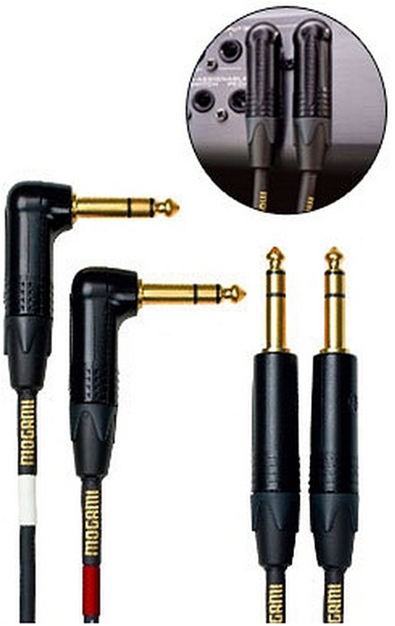 Mogami Gold Stereo Keyboard Balanced TRS Cables (15ft)