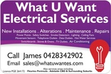 What U Want Electrical Services