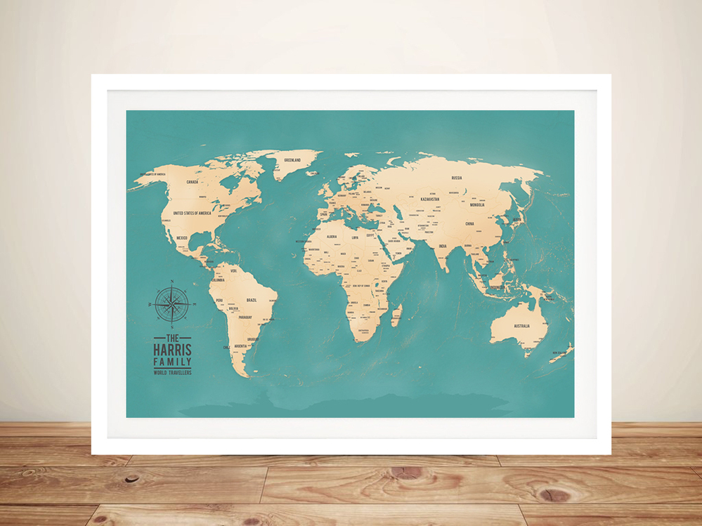 Push Pin Travel Maps by Blue Horizon Pri...