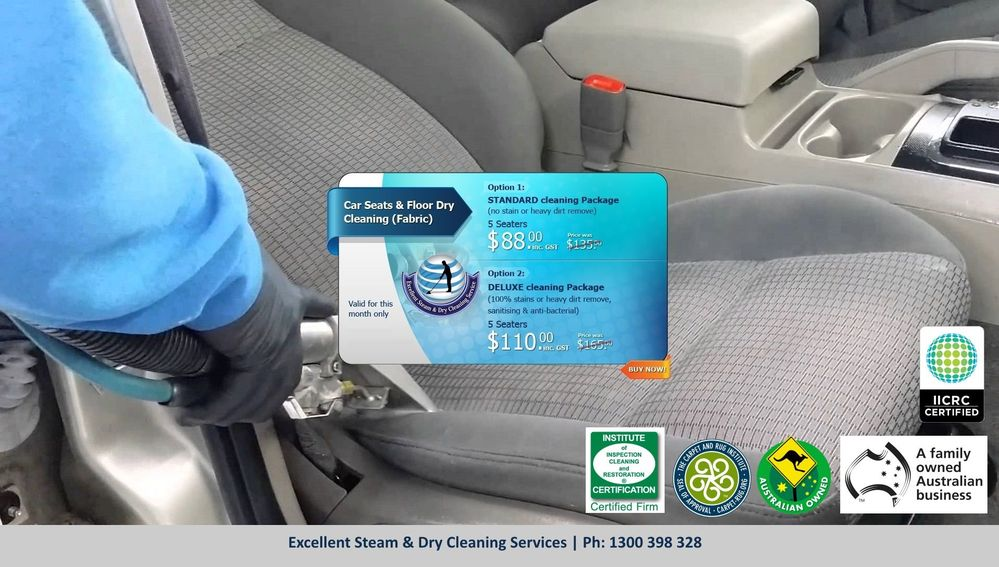 Car Seat/Interior Cleaning Services